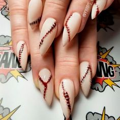 nail ideas 12 scary Halloween nail designs that you've never seen before! From Vampire Bride nails to Black magic manicure, this Hallloween nail art compilation has it all Holloween Nails, Halloween Acrylic Nails, Halloween Nail Designs, Easy Halloween Nails, Scary Nails, Fun Nails, Pretty Nails, Witchy Nails, Goth Nails