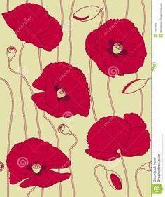Illustration about Retro floral seamless pattern - I d like poppies. Illustration of seamless, background, retro - 13076936 Watercolor Sketch, Retro Floral, Wood Burning, Textures Patterns, Sewing Ideas, Design Projects, Poppy, Stencil, Computers