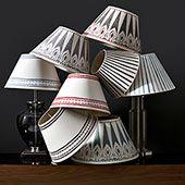 Hand painted card lampshades - OKA - Patterned Card Lampshades