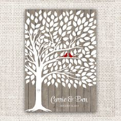 I like that idea mom. Wedding Guest Book Tree on Wood Background - Guest Book Poster with 175 Leaves - Modern Wedding Guest Book Print Wedding Tree Guest Book, Guest Book Tree, Wedding Guest Looks, Tree Wedding, Wedding Cards, Wedding Book, Wedding Ideas, Guest Books, Wedding Pictures