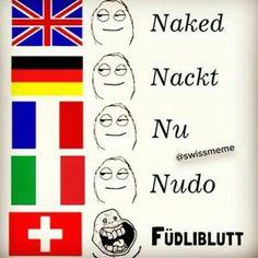 Funny Memes Deutsch English Deutsch Schweizerdeutsch Frankreich Italien