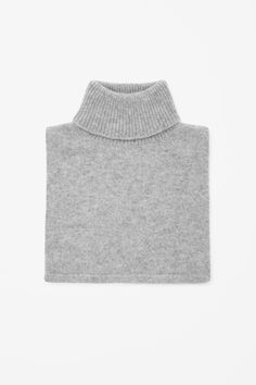 Roll-neck cashmere collar for the winter
