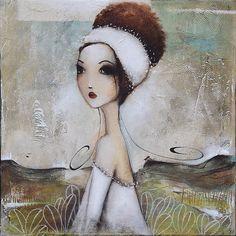 Painting, Acrylic by Armandine Jacquemet Soares (France) via Name Paintings, Art Fantaisiste, L'art Du Portrait, Art Et Illustration, Art Original, Arte Pop, Naive Art, Sacred Art, Illustrations And Posters