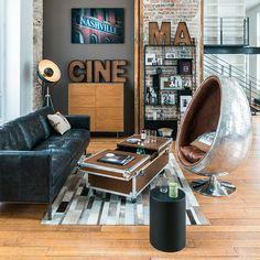 Industrial style furniture & home accessories Industrial Style Furniture, Industrial Bedroom, Interior Decorating, Interior Design, Diy Design, Decoration, Floor Lamp, Man Cave, Home Accessories