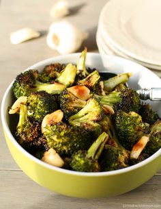 Roasted Broccoli.   I had it for dinner tonight and it's delish. I'll never eat it steamed again.