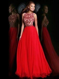 A-Linie/Princess-Stil U-Ausschnitt rmellos Perlenstickerei Floor-length Chiffon Kleiden