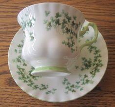 Royal Albert bone china tea cup and saucer Shamrocks.