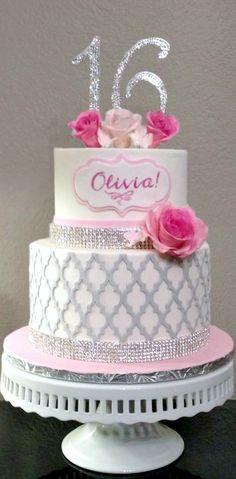 Sparkly Sweet 16 Cake