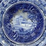 Landscapes Sculpted into Layered Antique Dinner Plates by Caroline Slotte