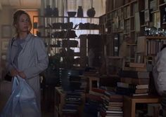 The stunning loft next to the equally gorgeous Diane Lane in Unfaithful has endless rows of books