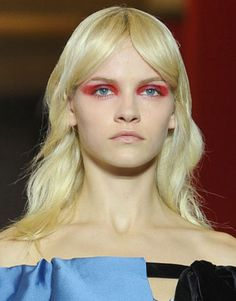 2012 Miu Miu Spring Runway-sorry can't jive with the red-I have spent years telling women about red near the eyes making them look sick
