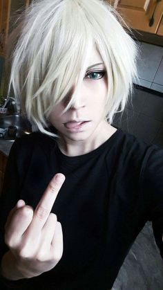 Yuri on ice. Yurio Plisetsky Cosplay Sorry for posting even though it has an obscene gesture but the makeup is really well done