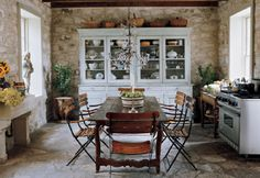 stone walls, stone floors, so french country