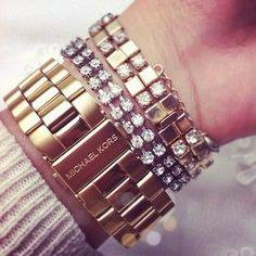 gold & glittery wrists