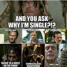 No wonder Daryl isn't hooking up with anyone 😂😂😂 Walking Dead Jokes, Walking Dead Zombies, Fear The Walking Dead, Norman Reedus, Twd Memes, Funny Memes, Daryl Dixon Memes, Film Serie, Humor