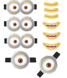 Minion Goggles Mouths Free Printable Despicable Me 2 Picture Mehr Minion Theme, Minion Movie, Minion Birthday, Funny Minion, Funny Jokes, Despicable Me Party, Minion Party, 4th Birthday Parties, 3rd Birthday