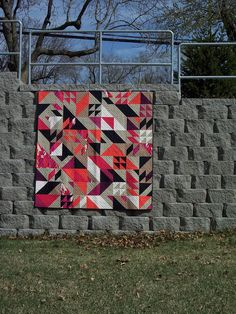 """Calling this one """"My Way""""   it is the Rebel pattern from Libs Elliot   I love the bright colors but played with the neutrals in th..."""