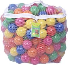 Amazon.com: Click N' Play Pack of 200 Phthalate Free BPA Free Crush Proof Plastic Ball, Pit Balls - 6 Bright Colors in Reusable and Durable Storage Mesh Bag with Zipper: Toys & Games One Year Old Gift Ideas, Ball Pit Tent, Best Ball Pits, Toddler Tent, Toddler Play, Shape Games, Kiddie Pool, Learning Toys, Kids Toys