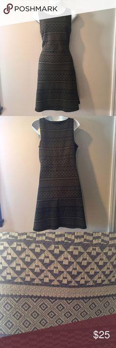 "🆕 Apt 9 olive green and black jacquard dress 🆕 Apt 9 olive green and black jacquard dress. Medium. 37"" long. Apt. 9 Dresses"