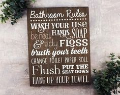 """Wash, soak, relax FEATURES: Size is 11"""" x 14"""" Handmade at our sign studio Solid wood with dark stain White painted lettering Includes keyhole on back for easy hanging"""