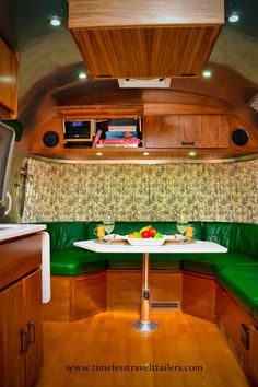 New Airstream shell completed by Timeless Travel Trailers. Luxury, custom trailer.