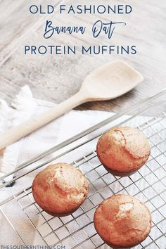 An old fashioned banana oat protein muffins recipe made with heart healthy ingredients, wholesome oats, Armour Premium All-Natural Lard,  and packed with protein! #ArmourPremiumLard #Pmedia #ad @walmart