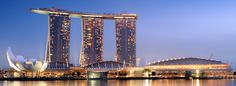 Marina Bay Sands (Singapore): Marina Bay Sands has an amazing pool with a spectacular view of the city. If you're afraid of heights, it's probably not a good idea to swim too close to the edge…