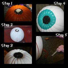 DIY Pumpkins Crafts : DIY Great Eyeball Pumpkin DIY Fall Crafts DIY Halloween Decor