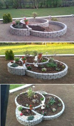 Maybe make a, or add, a lil pond or water feature in a circle.