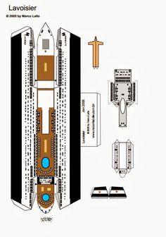 Ship model for mock-up