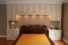 Storage around Bed | This is a custom unit we built around the customers bed. It is a ...