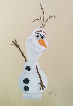 La Reine des Neiges - Olaf - Dessin Disney Drawing - Sabrina F.