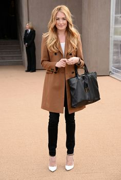 Cat Deeley at Burberry AW/14 show.