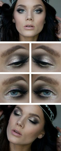 Wed.Dec.18/13, LINDA HALLBERG : TODAYS LOOK - NEW YEARS.  I've used ... EYES:  Maybelline color tattoo On and on bronze, MUS Tri brow color, Too faced glamour dust Nude Beam, NYX wonder pencil, MUS Glitter Super, MUS Mixing Liquid, Isadora Twist up metallic eyepen Dark Brown, NYX doll eyes mascara Waterproof, MUS Lash art Miss.  LIPS: NYX Butter gloss Créme Brulee.  CHEEKS: MUS Blush Must Have, Duwop Mattillume Transluscent powder Lighter, Too faced Chocolate soleil Milk Chocolate.