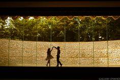 Dancing silhouette engagement photo shoot - 데이트 스냅