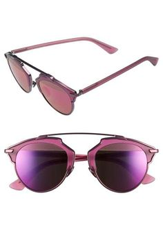 4b9d9617fde5 Dior Brown Round Sunglasses - soreal ( 595) ❤ liked on Polyvore featuring  accessories
