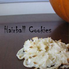 CATober Halloween Recipes: Hairball Cookies