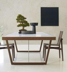 Table contemporaine par Rodolfo Dordoni (plateau en marbre) WHERE Molteni & C