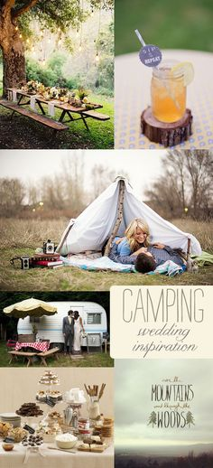 S'more Love! {Camping Wedding Inspiration} - Storkie Blog