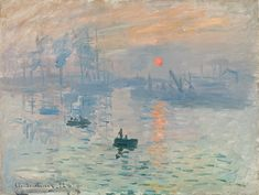 Claude Monet Impression Sunrise painting is shipped worldwide,including stretched canvas and framed art.This Claude Monet Impression Sunrise painting is available at custom size. Monet Paintings, Impressionist Paintings, Landscape Paintings, Landscapes, Seascape Paintings, Canvas Paintings, Claude Monet, Renoir, Manet