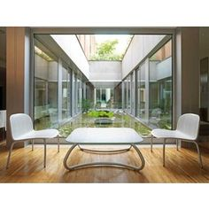 Modern White Outdoor Tables and Chairs Loto Ninfea from Nardi