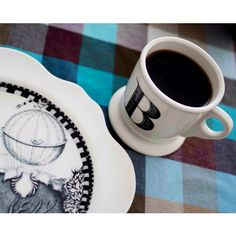 Teşvikiye - Home, sunday coffee  Monogrammed Mug&Forest Fiddler Plate: Anthropologie