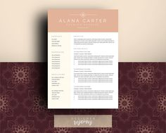 Application Documents Template v01 CV Resume Cover letter