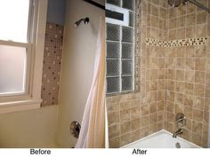 Bathroom remodel - before and after