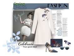 """""""Blue is Soft and White"""" by michelletheaflack ❤ liked on Polyvore featuring MaxMara, Alexander McQueen, Jimmy Choo, Christian Dior, Ippolita, polyvorecontest and springdress"""