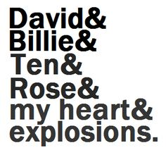 David & Billie & Ten & Rose <3<3