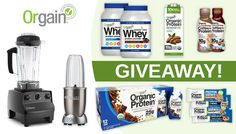 We've partnered with Orgain for this giveaway with 3 winners for 3 prize packages valued over $1,400 with a Vitamix, NutriBullet and Orgain Organic Protein!