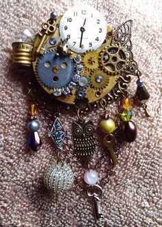 Steampunk Sass Brooch by MistressRae13 on Etsy, $25.00