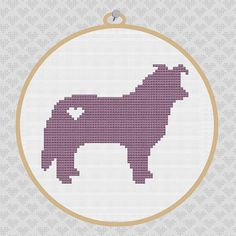 Border Collie Silhouette Cross Stitch Pattern by kattuna on Etsy, $3.50
