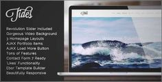 Download and review of Tides - Fullscreen Video One-Page WordPress Theme, one of the best Themeforest Creatives themes